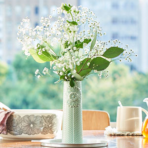 花束セット「dottir 北欧風フラワーベースセット(カスミ草)」