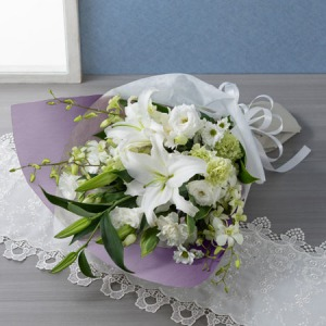 EX花束「花穂のか(白)」