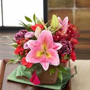 アレンジメント「和花の贈り物〜茜〜」