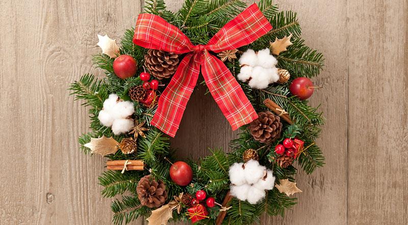 クリスマスコーナー作りで雰囲気アップ