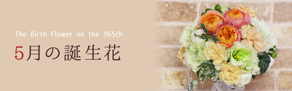 THE BIRTH FLOWER ON THE 365th 5月の花言葉